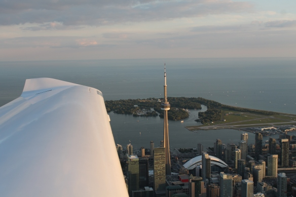 Flying by the CN Tower