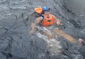 Swimming in Class 3 Rapids
