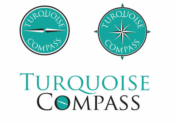 turquoise compass logo