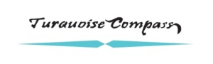 turquoise compass watermark