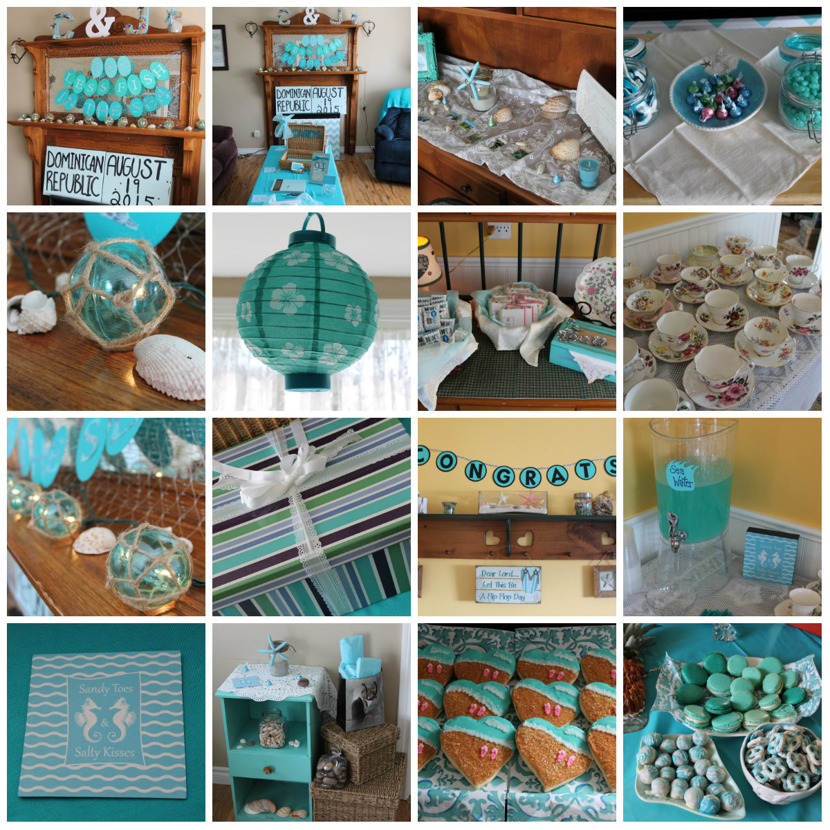 My wedding shower turquoise beach themed tea party turquoise compass turquoise compass wedding shower junglespirit Image collections