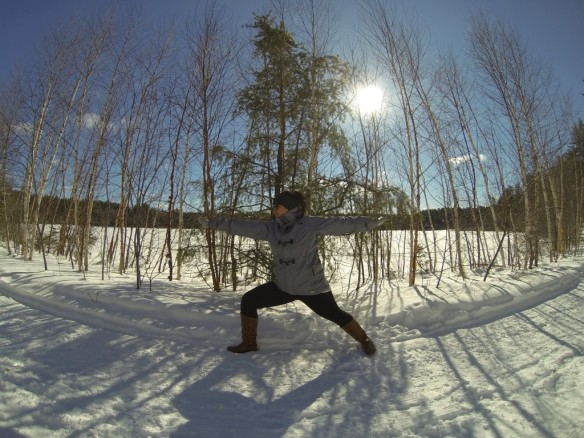 Yoga in the Snow